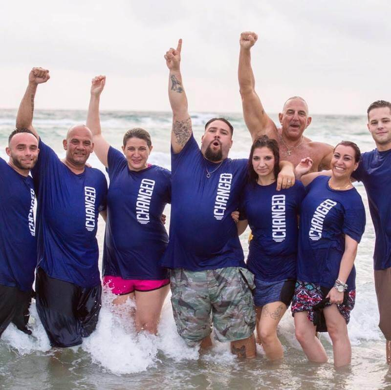 JC Recovery Center Beach Baptism